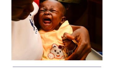 Baby receiving vaccination